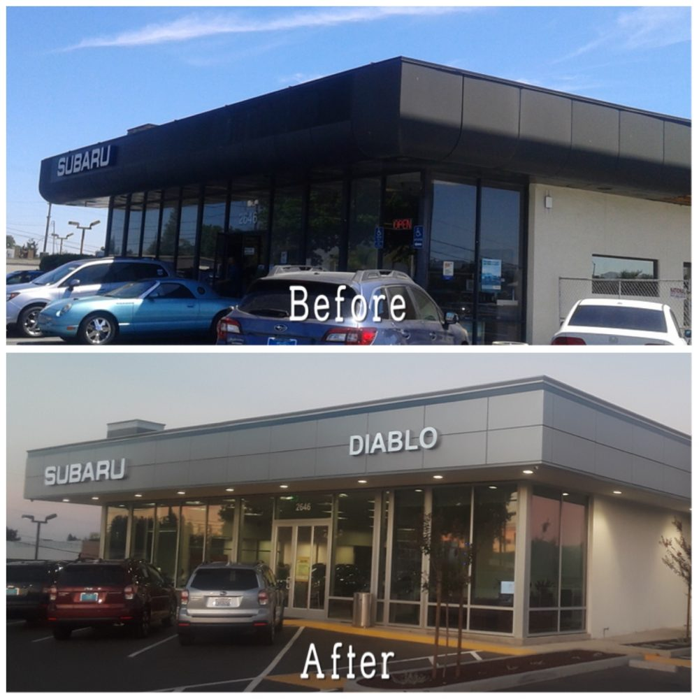 check out the before and after of our diablo subaru modernization project architectural. Black Bedroom Furniture Sets. Home Design Ideas